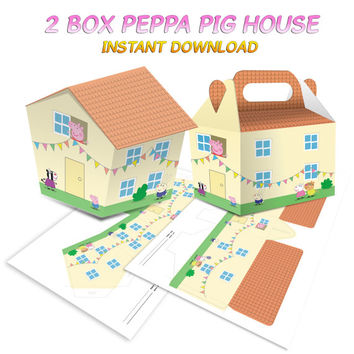 2 Boxes Peppa Pig House Instant Dowload