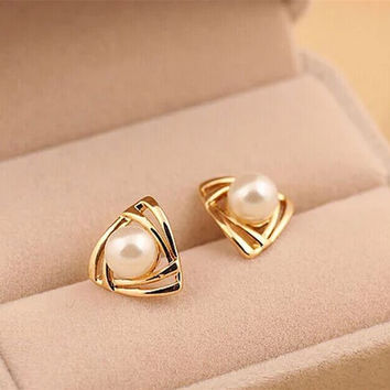 ER133  Hot fashion Imitation pearl Stud Earrings for woman jewelry