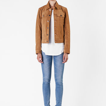 BLK DNM  - Tobacco Leather Jacket