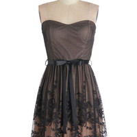 ModCloth Short Length Strapless A-line Engaged to Be Merry Dress