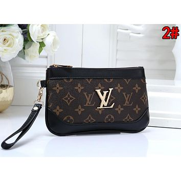 Louis Vuitton LV Hot Sale Women Leather Zipper Clutch Bag Handbag Tote 2#