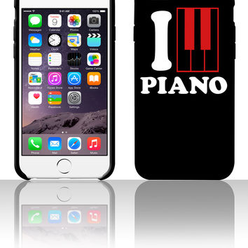 I Love Piano Logo 5 5s 6 6plus phone cases