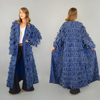 80's Textured DENIM Duster Coat