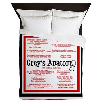 Grey's Anatomy Quotes Queen Duvet