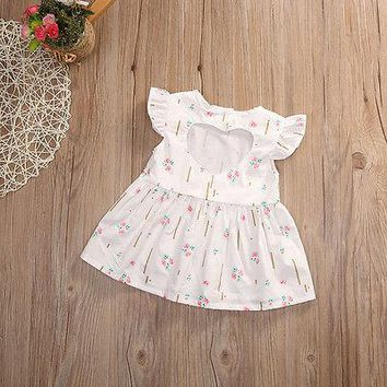 2017 New Cute Baby Girl Toddler Kids Flower Princess Party Pageant Wedding Sleeveless Dresses