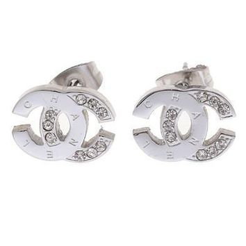 Day-First™ Chanel Woman Fashion Logo Diamonds Stud Earring For Best Gift