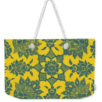 An Ottoman Iznik Style Floral Design Pottery Polychrome, By Adam Asar, No 13n - Weekender Tote Bag