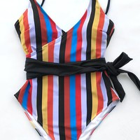 Cupshe Tropic Of Discusssion Stripe One-piece Swimsuit