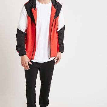 Geo Zippered Windbreaker