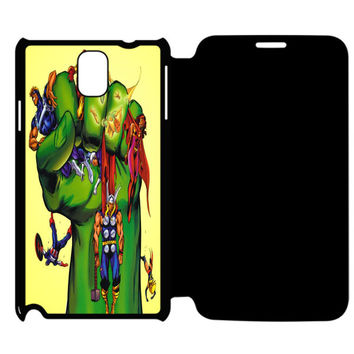 Funny Marvel Movies Samsung Galaxy Note 4 Flip Case Cover