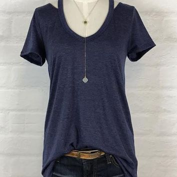Solid Knit Heather Navy Tee