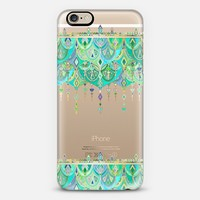 Art Deco Double Drop in Jade and Aquamarine - transparent iPhone 6 case by Micklyn Le Feuvre | Casetify