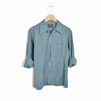 Vintage Pendleton Plaid Wool Woodsy Shirt - men's m