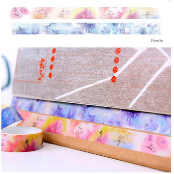 daydream washi tape 3M dreamland masking tape fairy tale meditation dream flying on sky sticker tape watercolor world planner diary gift