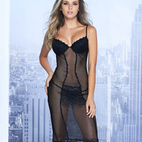 Lace And Fishnet Babydoll