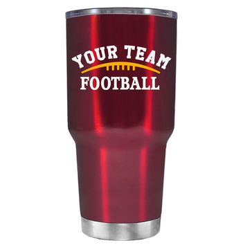 TREK Custom Football Team on Translucent Red 30 oz Tumbler Cup