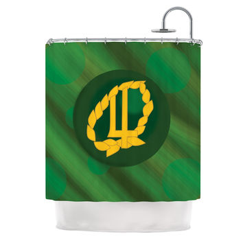 "NL Designs ""Jupiter"" Green Emerald Shower Curtain"