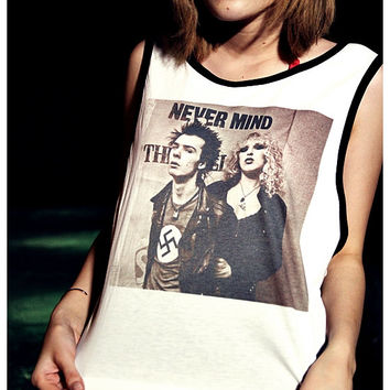 Sid Vicious - Sex Pistols Tank Top Girl Sexy Summer Sideboob Women Shirt Size S, M, L