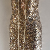 Free post, Great Gatsby costume, party, prom, wedding, holiday, gold, charleston, flapper, dress size UK 12-14, USA 10-12 ,EUR 40-42