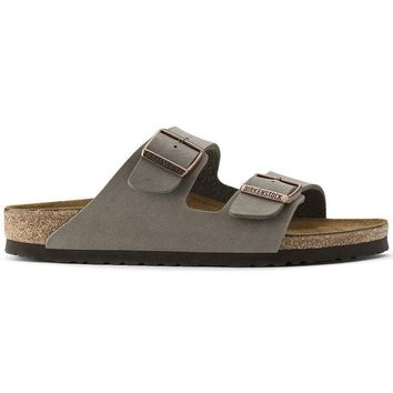Birkenstock Arizona Birkibuc Stone 0151211/0151213 Sandals - Ready Stock