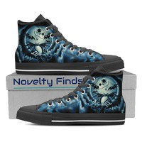 Jack Skellington Blue Hi/Low Top Women's Shoes