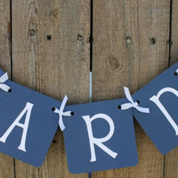 Mini Cards Banner (Navy Blue with white letters) / Wedding Banner / Party Banner / Party Decor / Card Table / Garland / Sign
