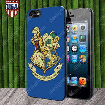 Pokemon Hogwarts Logo case for iPhone 5, 5S, 4, 4S and Samsung Galaxy S3, S4