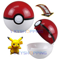 Pokemon Pokeball Pop-up Plastic Super Master A Ball Kids Game Toy + Free Pikachu