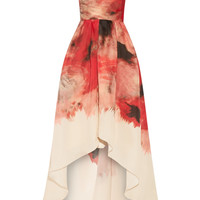Lela Rose - Printed silk-gazar gown