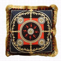 "Crusade Printing Pillow Embellished With Trim 20""X20"""