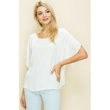 Solid Box Top - Ivory