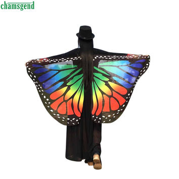 CHAMSGEND WillBeen Soft Fabric Butterfly Wings Shawl Fairy Ladies Nymph Pixie Costume Accessory Fashion Mar9