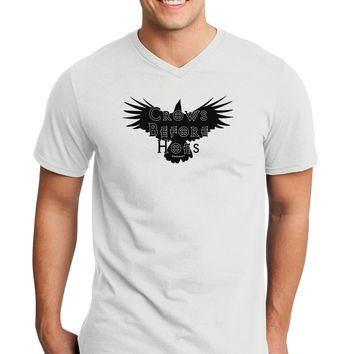 Crows Before Hoes Design Adult V-Neck T-shirt by TooLoud