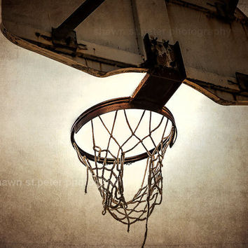Vintage Basketball Hoop  8x10 print ,Decorating Ideas, Wall Decor, Wall Art, MVP, Kids Room, Nursery Ideas, Gift Ideas,
