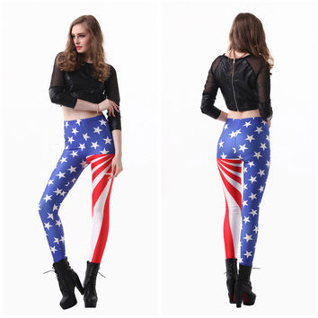 Print Design Slim Leggings [6338692868]