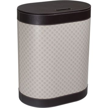 Kin Icon Hamper Laundry Basket With Lid - Synthetic Leather