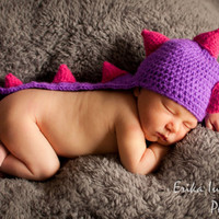 Dinosaur Baby Hat Baby Girl Dragon Hat by cottoncandycraftings