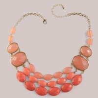 Emily Necklace in Coral