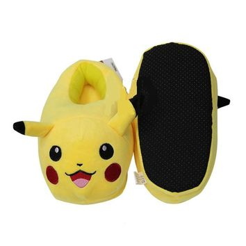 Anime  pikachu  Cartoon printing plush  shoes Men Women Boys Girls Unisex Fashion high-top flat canvas shoesKawaii Pokemon go  AT_89_9