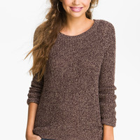Rubbish® Waffle Knit Sweater (Juniors) | Nordstrom