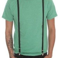 Black Skinny Suspenders