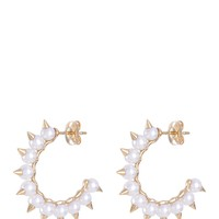 Tasaki | 'Danger Tribe' freshwater pearl stud hoop earrings | Women | Lane Crawford - Shop Designer Brands Online