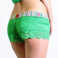 FOXERS - Green Lace Boxer Short