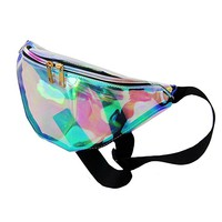 All Ships From US-Mily Silver Hologram Fanny Pack Laser Fanny Pack Perfect for Raves and Festivals