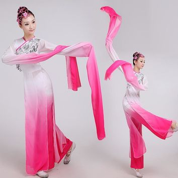chinese folk dance costume for woman woman traditional costumes sleeve fan women children ancient chinese women clothing
