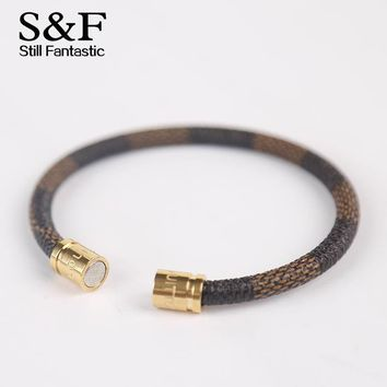 New Arrival Leather Bracelet Men Bracelets For Women Pulseira Masculina Magnet Man Jewelry Charm Bileklik Pulseiras 2017