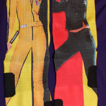 Kill Bill Custom Nike Elite Socks Parody