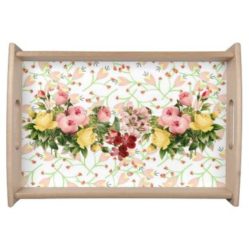 Pink Posy Small Serving Tray