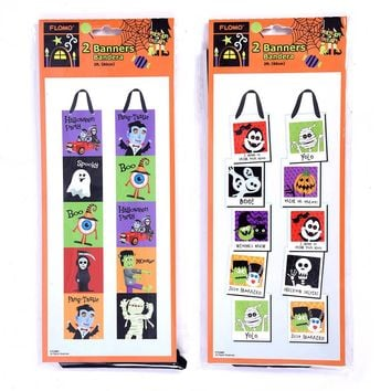 2' Halloween Character Vertical Banner - CASE OF 72
