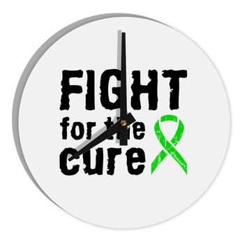 """Fight for the Cure - Lime Green Ribbon Lyme Disease 8"""" Round Wall Clock"""